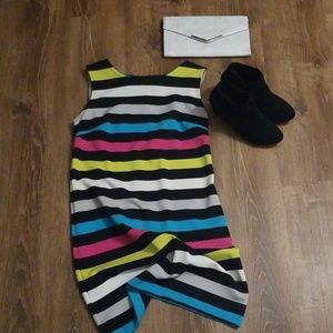 Multi Color Striped Sleeveless Dress